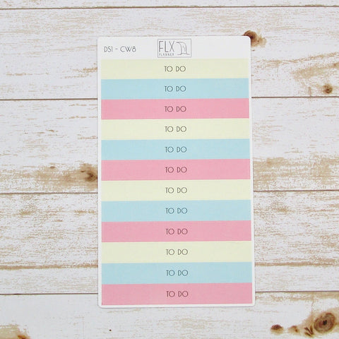 To Do Header Stickers | Daily FLX Planner