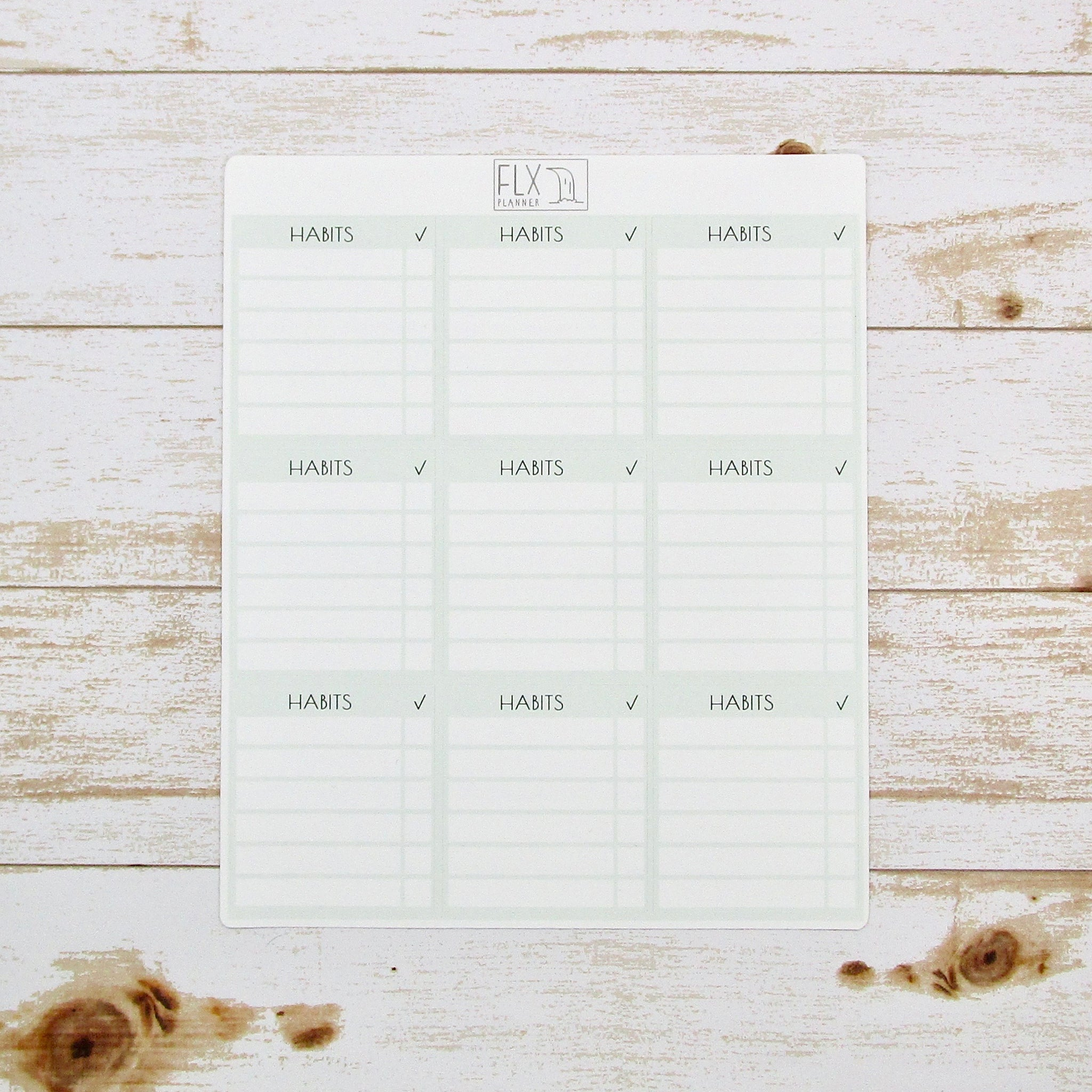 Habit Tracker Stickers | Daily FLX Planner