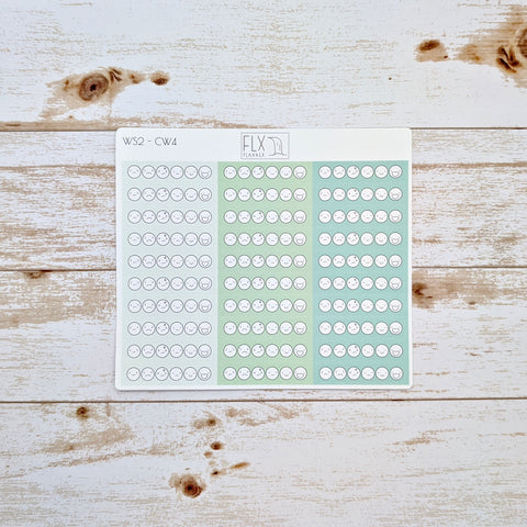 Mood Tracker Stickers | Weekly FLX Planner