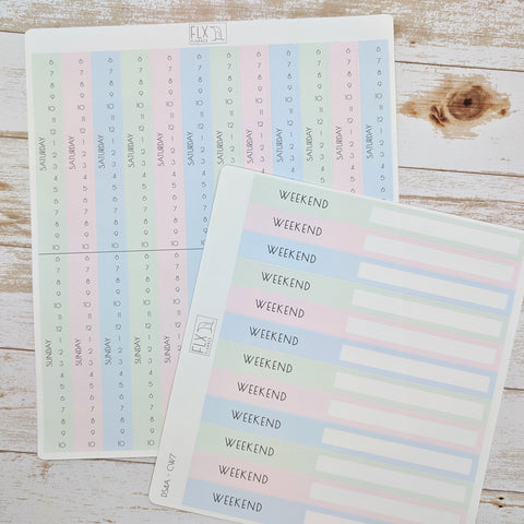 Weekend Converter Stickers | Daily FLX Planner