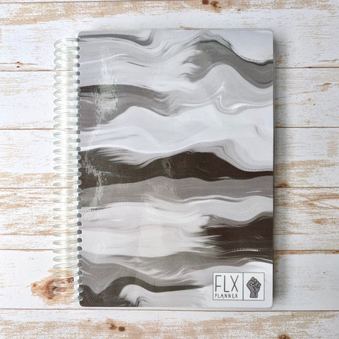 Black & White Undated 4-Month Hybrid FLX Planner (*BLM Benefit Cover)