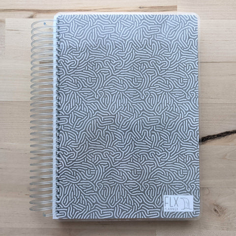 CLEARANCE - Grey Maze 12-Month Weekly Planner 100 lb paper (CL7)