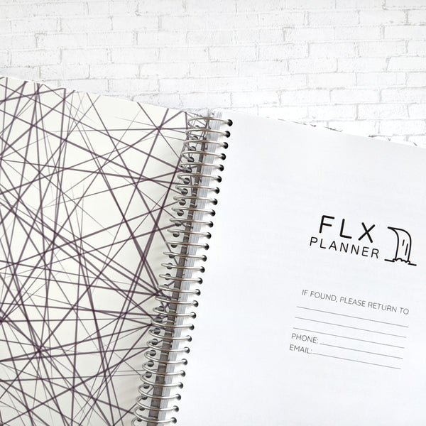 Plum B5 Undated 6-Month Daily FLX Planner