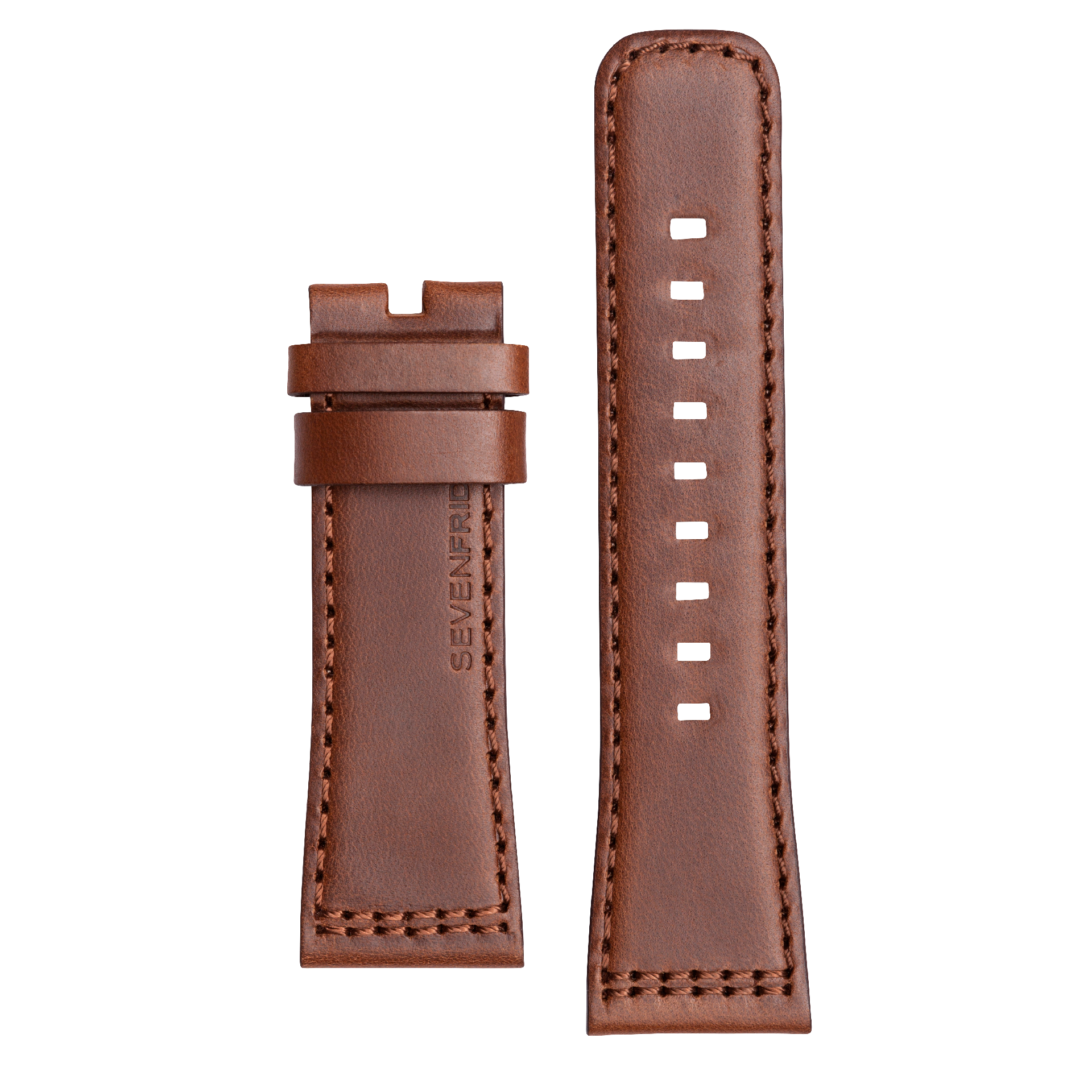 STRAP, Leather, Brown with Brown stitching (V2/01)