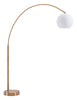 brushed brass and white floor lamp