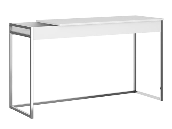 Desk Table Office White Chrome