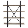 Tall Book Shelf book case oak with black