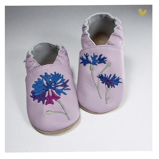 Babice suede embroidery flower