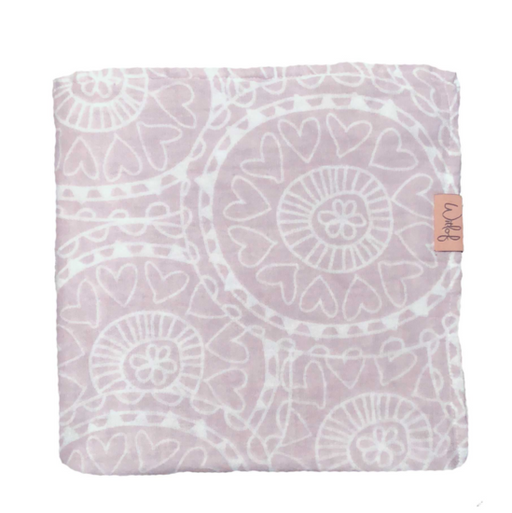 Witlof - Swaddle 120 x 120 - Misty Pink