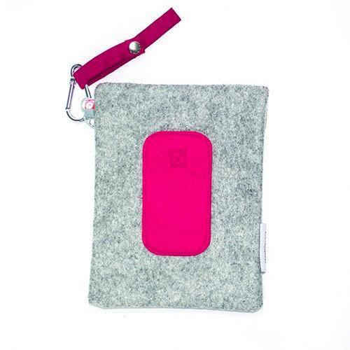 Wet wipes soft case roze