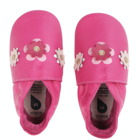 Bobux - Soft Soles - Flowers Pink