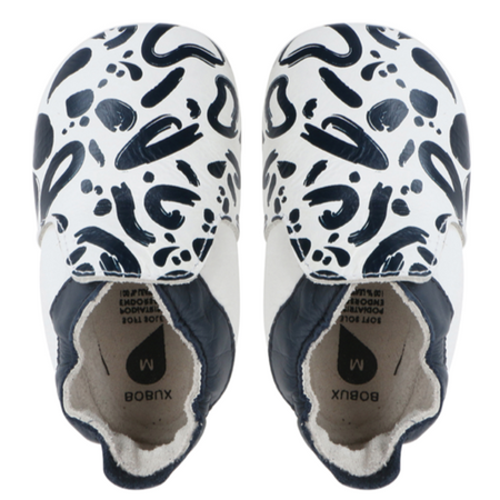 Bobux - Soft Soles - Abstract - Navy&White