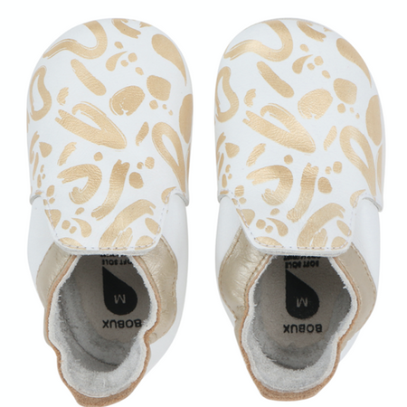 Bobux - Soft Soles - Abstract - Gold&White