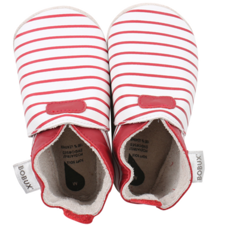 Bobux - Soft Soles - Wit&Rood Gestreept S
