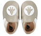 Bobux - Soft Soles - Goud/Wit - Giraf loafer