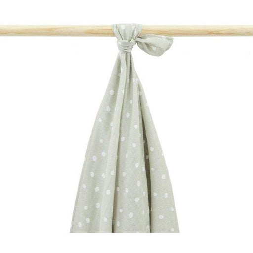 Little Lemonade hydrofiele doek dots grey 115x115