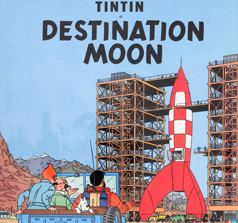 Tin Tin Destination Moon - Inspiration for Omega Speedmaster Racing