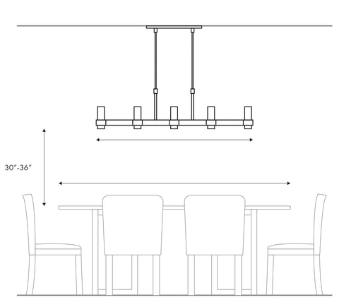 Linear Fixture Over a Table or Island