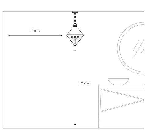 Hanging a light In a Hall or Vestibule