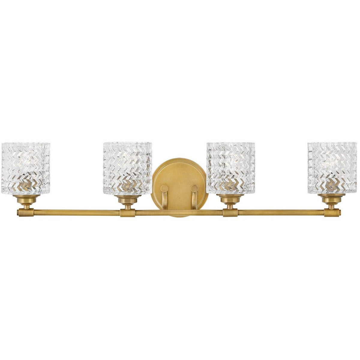 Hinkley Canada - 5044HB - Four Light Bath - Elle - Heritage Brass