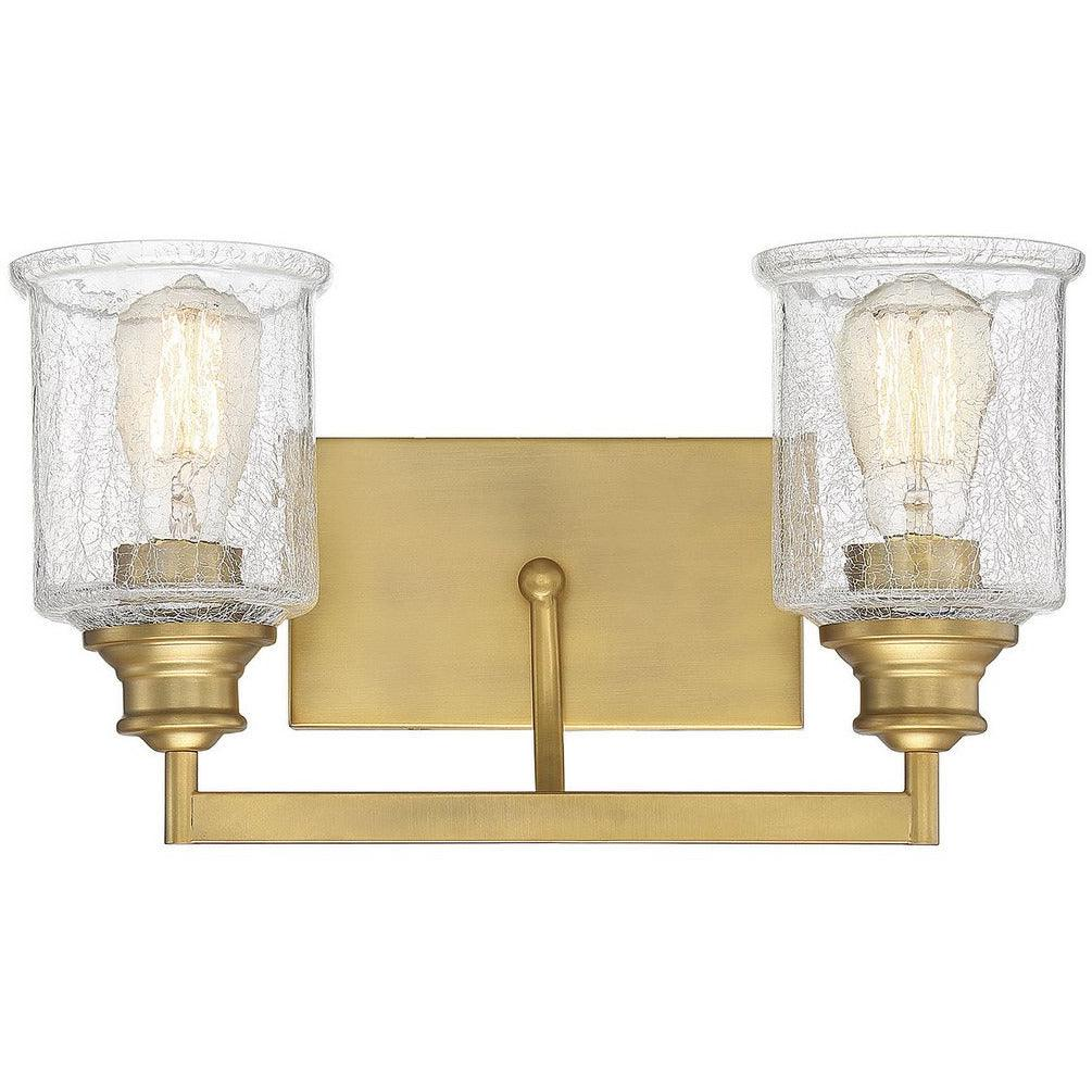 Savoy House - 8-1972-2-322 - Two Light Bath Bar - Hampton - Warm Brass