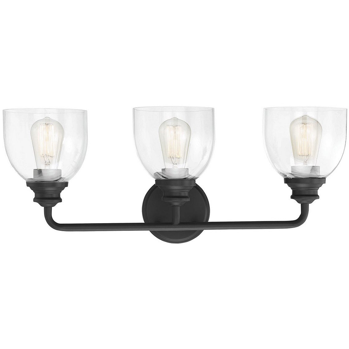 Savoy House - 8-7205-3-BK - Three Light Bath Bar - Vale - Black