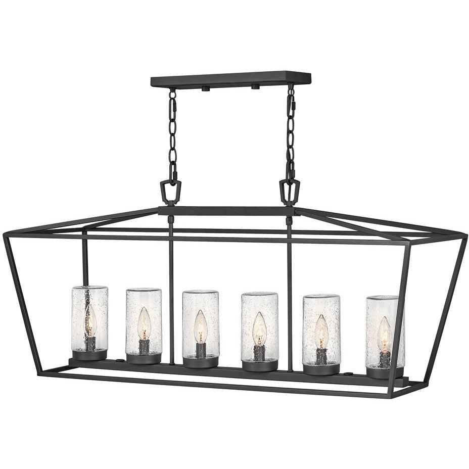 Hinkley Canada - 2569MB - Six Light Outdoor Lantern - Alford Place - Museum Black