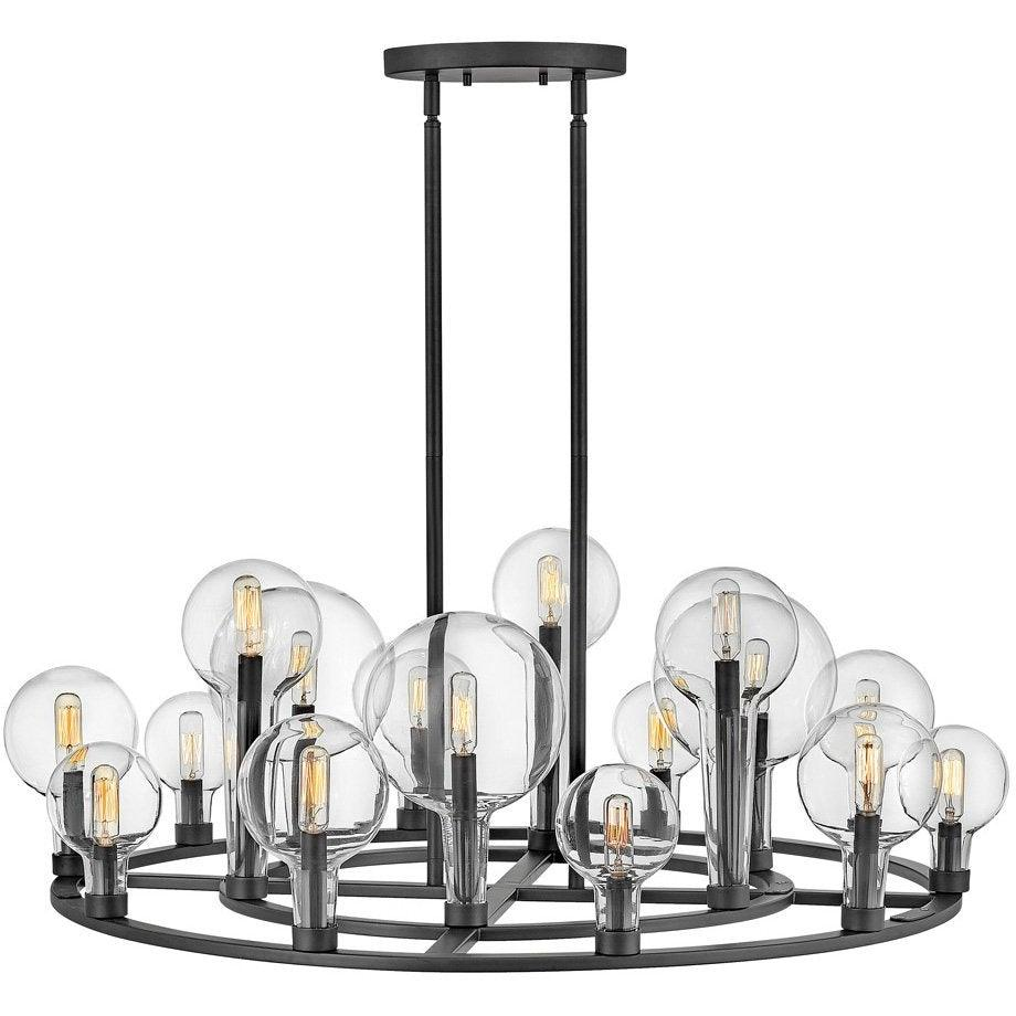 Hinkley Canada - 30529BK - 15 Light Chandelier - Alchemy - Black
