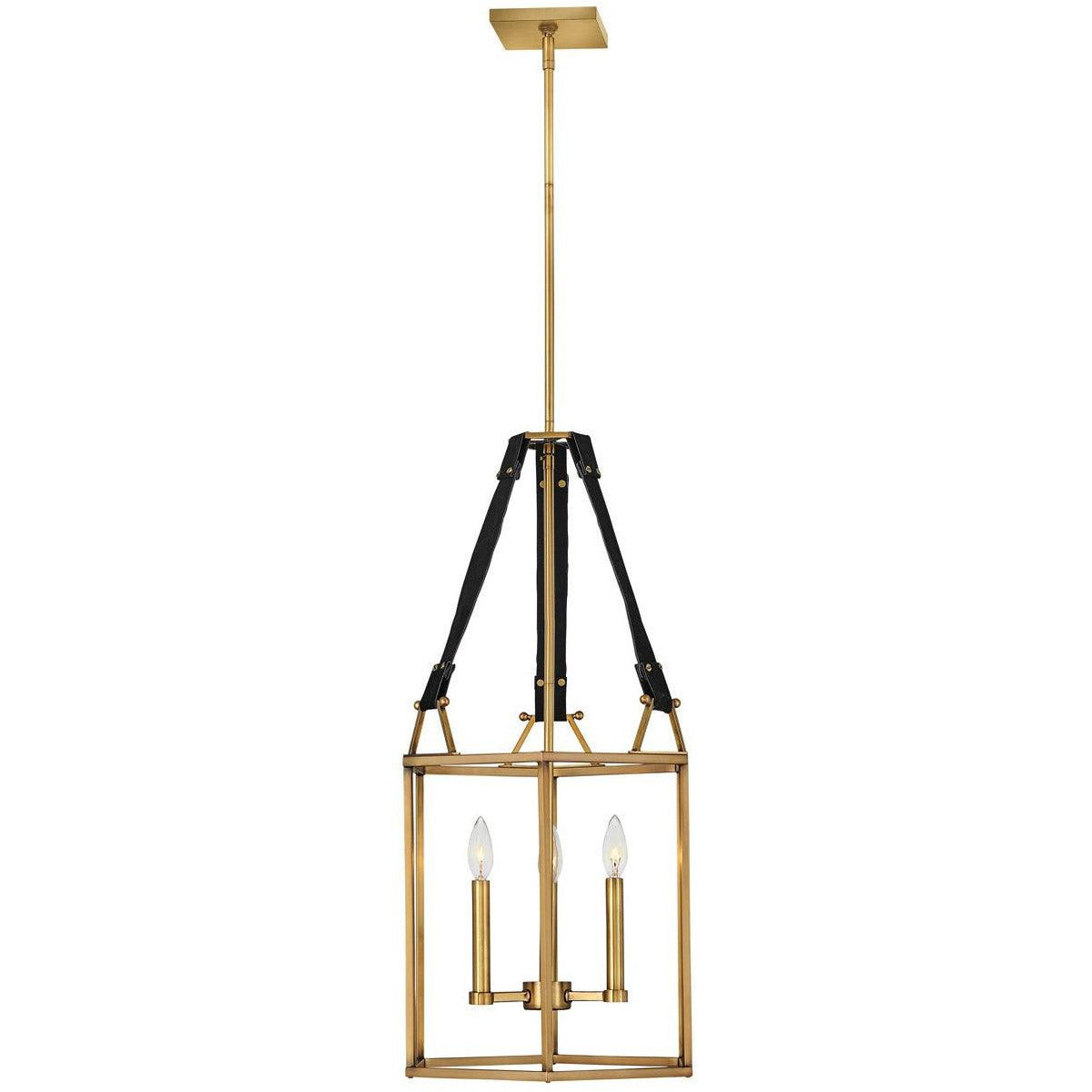 Hinkley Canada - 34204HBR - Three Light Chandelier - Monroe - Heritage Brass