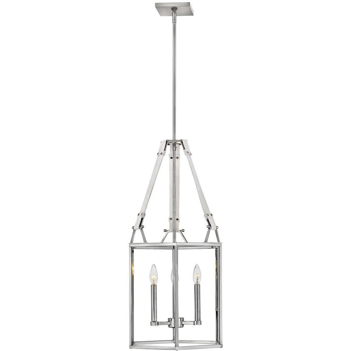 Hinkley Canada - 34204PNI - Three Light Chandelier - Monroe - Polished Nickel