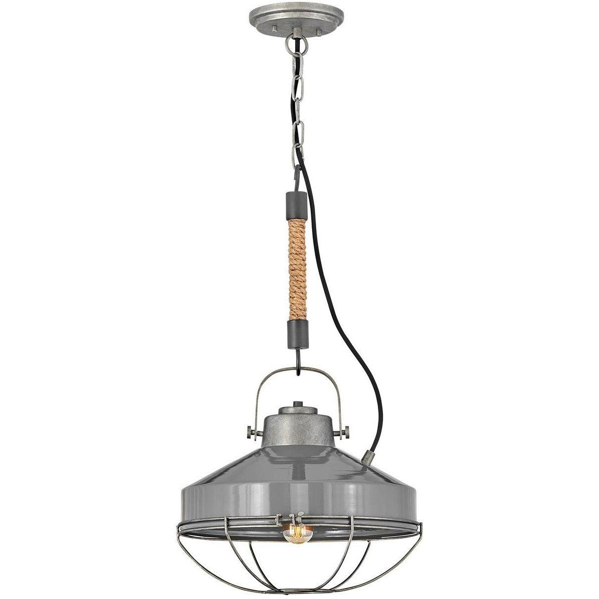 Hinkley Canada - 34907RP - One Light Pendant - Brooklyn - Rustic Pewter