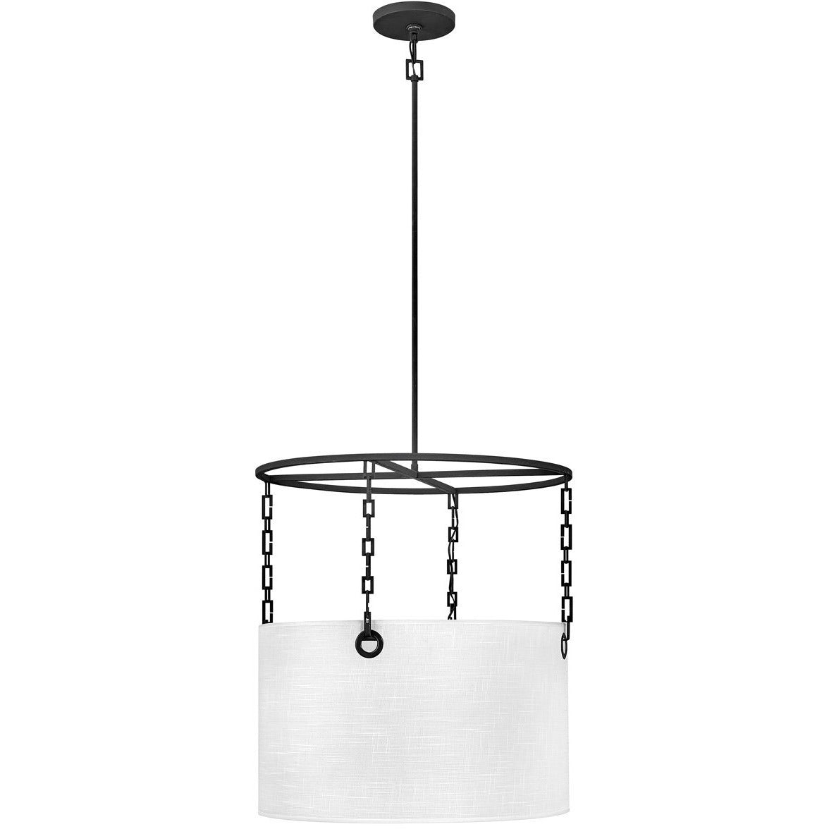 Hinkley Canada - 38404BLK - Four Light Chandelier - Tribeca - Black