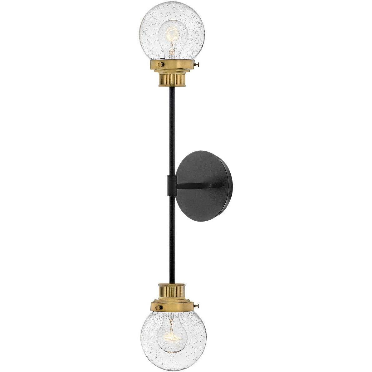 Hinkley Canada - 40692BK - Two Light Wall Sconce - Poppy - Black