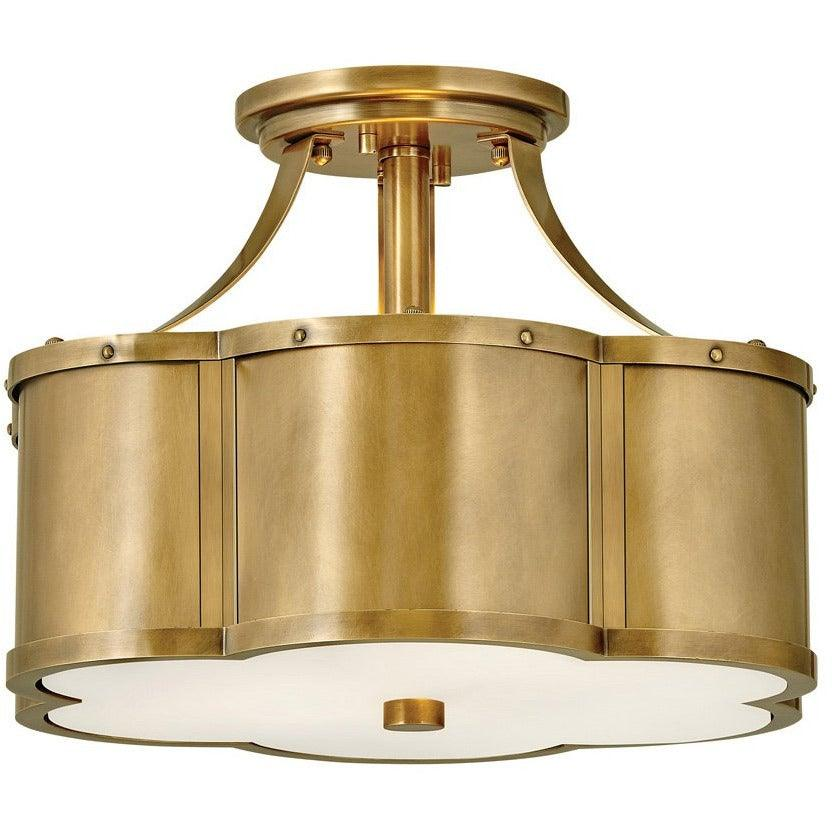 Hinkley Canada - 4443HB - Two Light Foyer Pendant - Chance - Heritage Brass