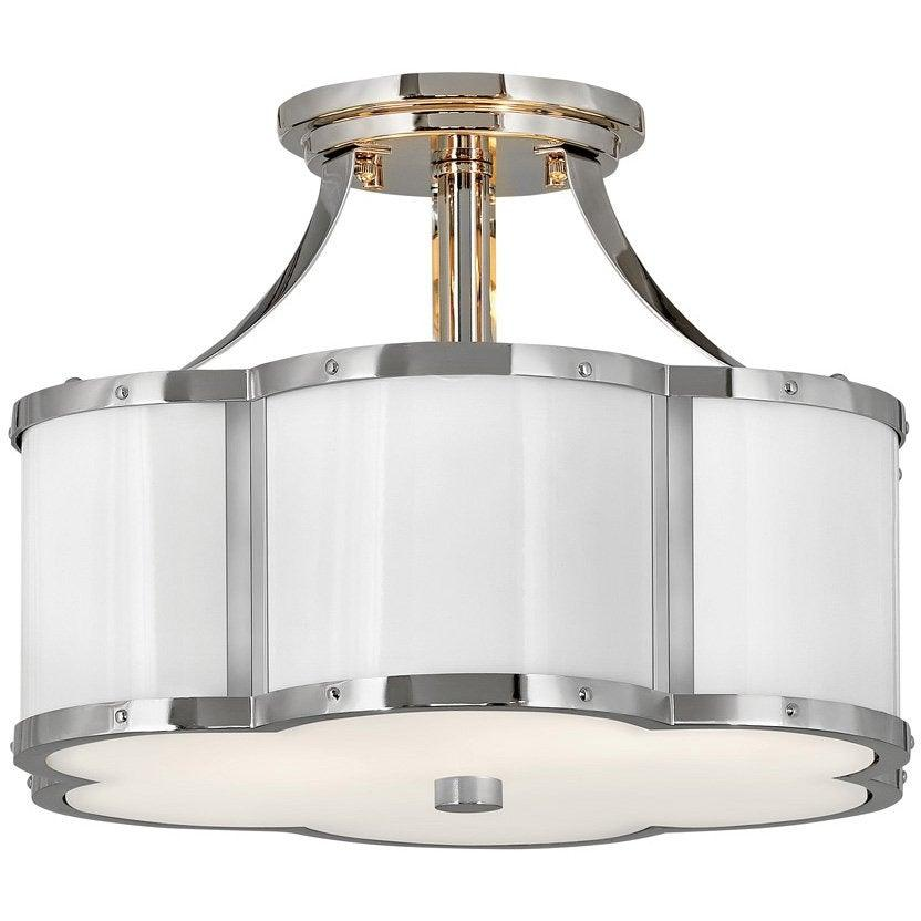 Hinkley Canada - 4443PN - Two Light Foyer Pendant - Chance - Polished Nickel
