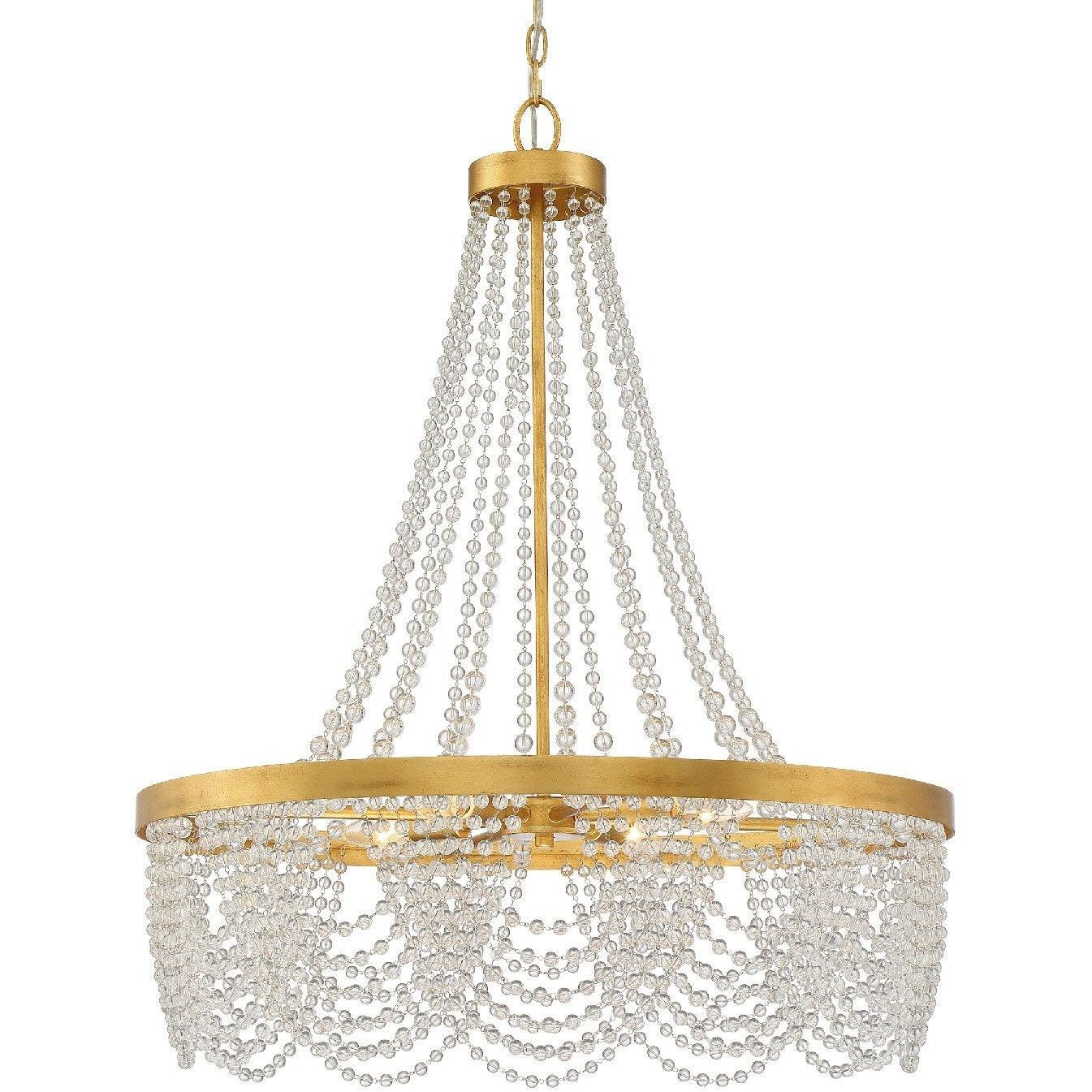 Crystorama - FIO-A9104-GA-CL - Four Light Chandelier - Fiona - Antique Gold