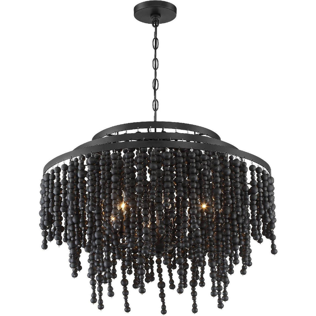 Crystorama - POP-A5076-MK - Six Light Chandelier - Poppy - Matte Black