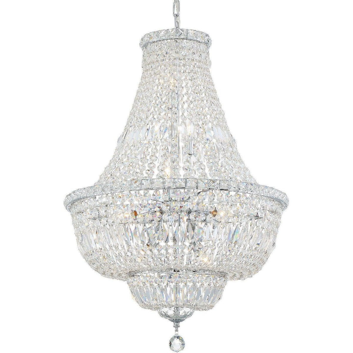 Crystorama - ROS-A1009-CH-CL-MWP - Nine Light Chandelier - Rosyln - Polished Chrome