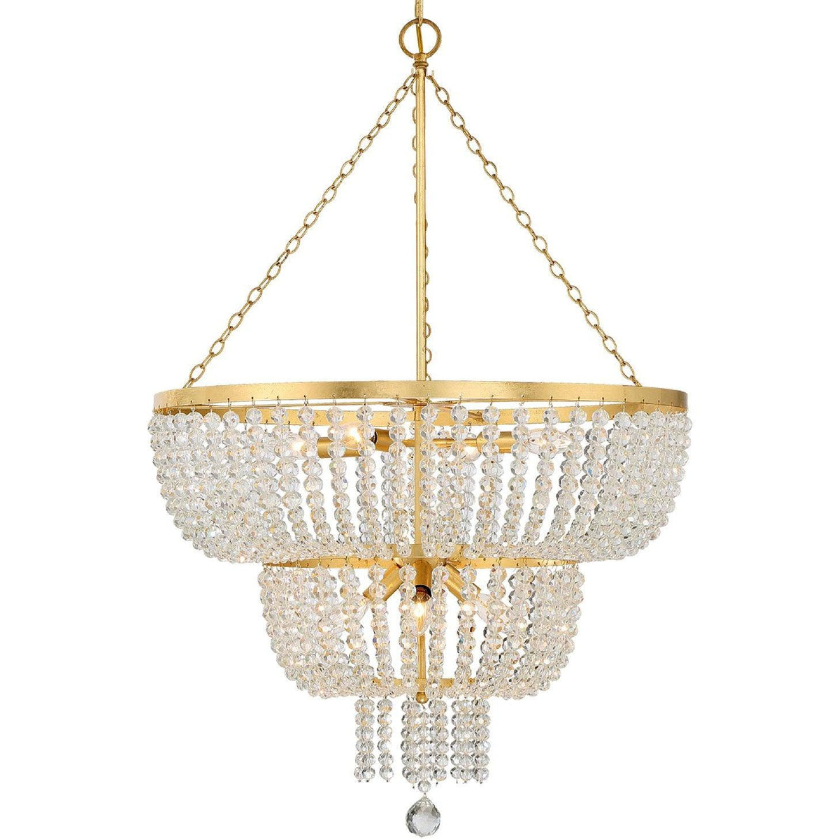 Crystorama - 610-GA - Eight Light Chandelier - Rylee - Antique Gold