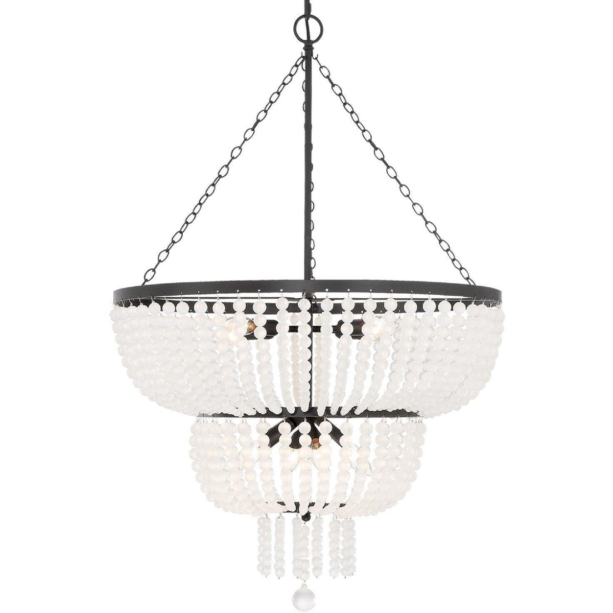 Crystorama - 610-MK - Eight Light Chandelier - Rylee - Matte Black