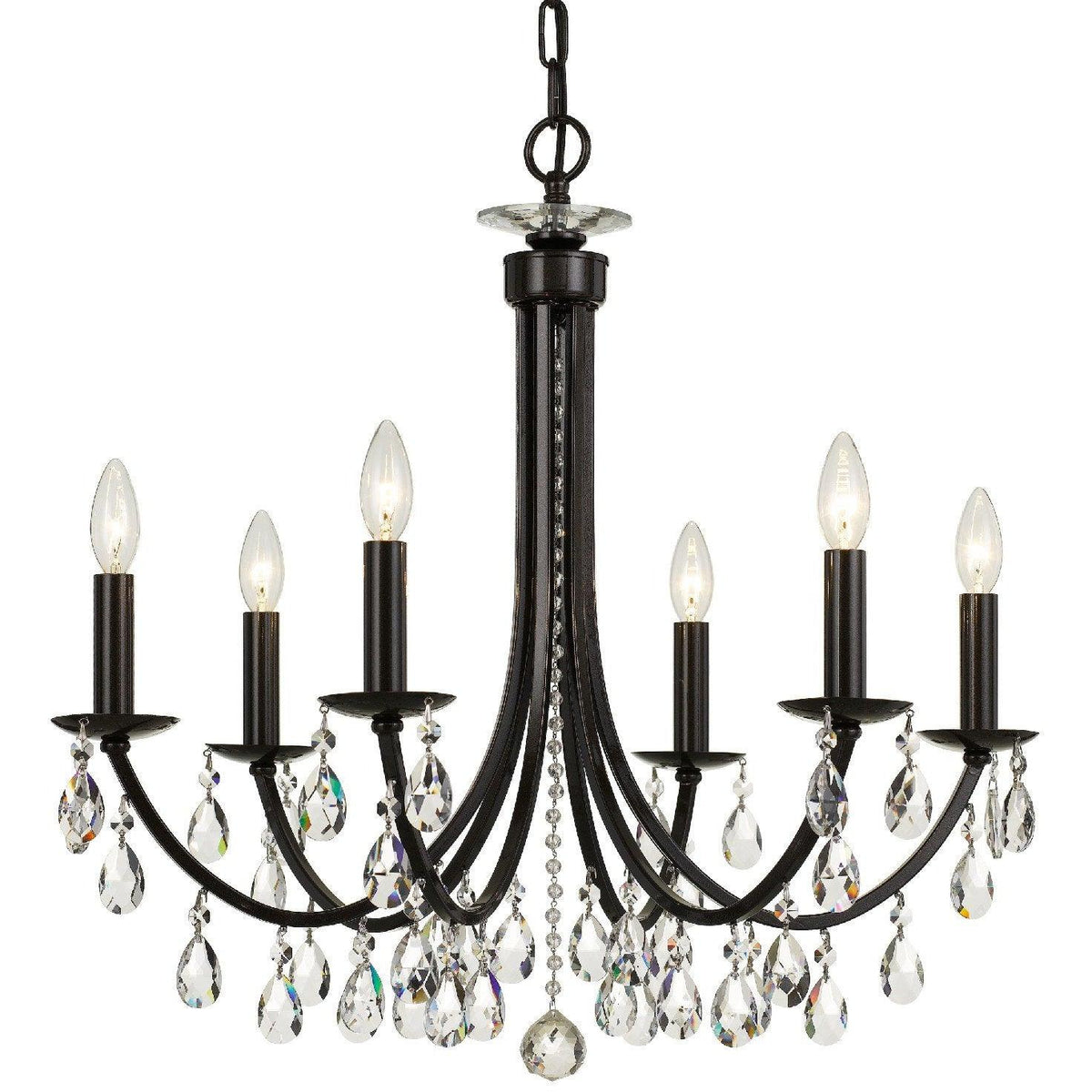 Crystorama - 8826-VZ-CL-SAQ - Six Light Chandelier - Bridgehampton - Vibrant Bronze