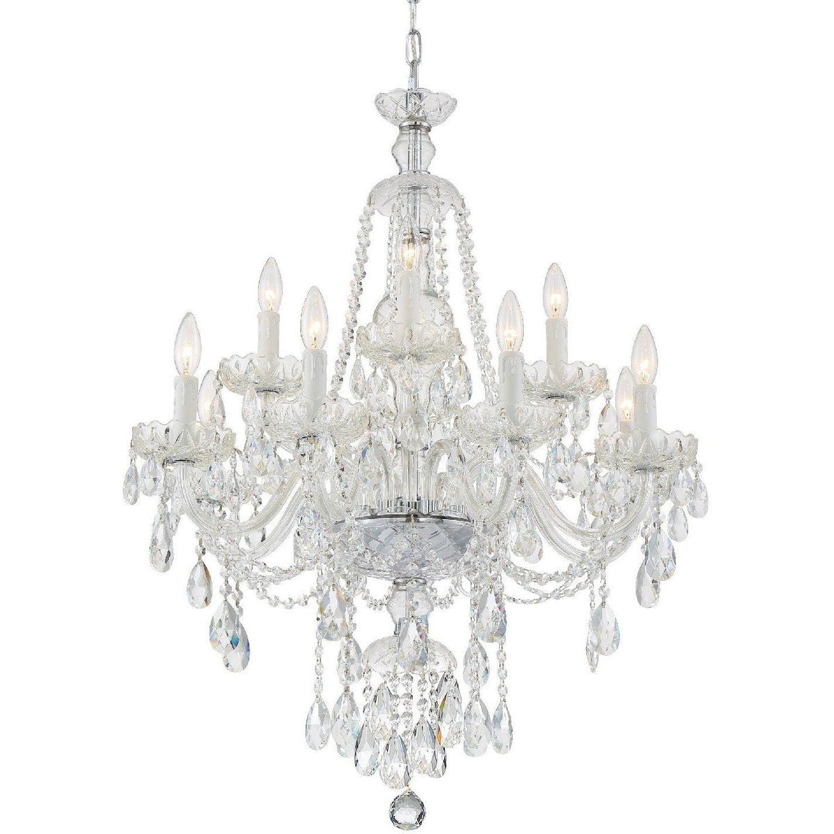 Crystorama - CAN-A1312-CH-CL-SAQ - 12 Light Chandelier - Candace - Polished Chrome