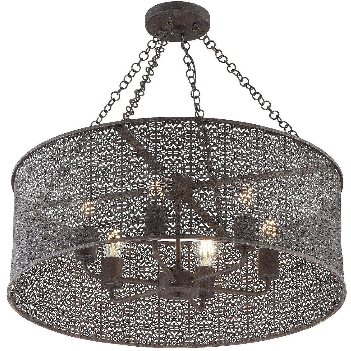 Crystorama - JAS-A5016-FB - Six Light Chandelier - Jasmine - Forged Bronze
