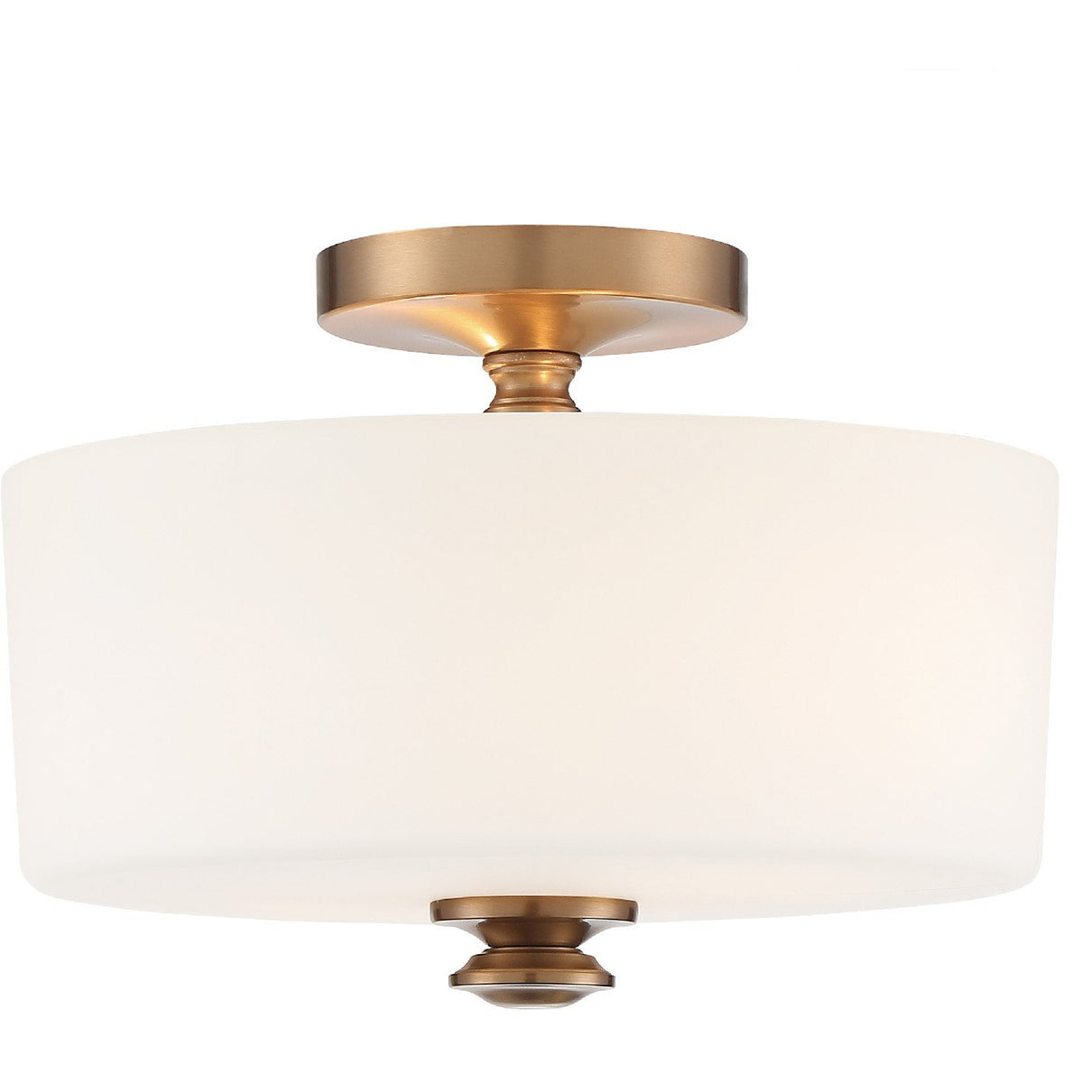 Crystorama - TRA-A3302-VG - Two Light Ceiling Mount - Travis - Vibrant Gold