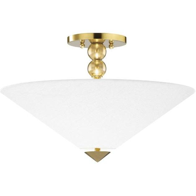 Hudson Valley - 1318-AGB - Two Light Flush Mount - Flare