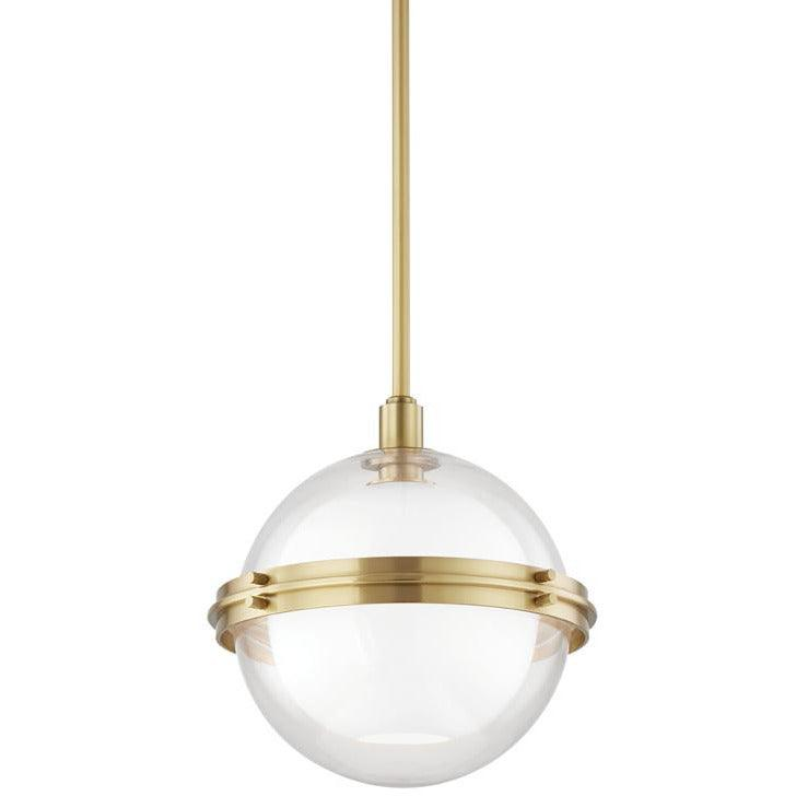 Hudson Valley - 6514-AGB - One Light Pendant - Northport