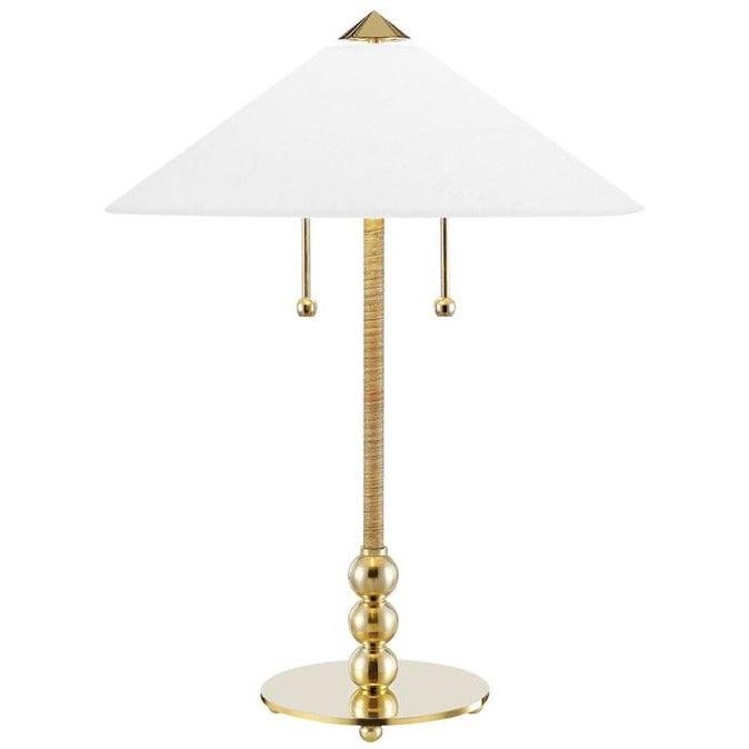 Hudson Valley - L1395-AGB - Two Light Table Lamp - Flare
