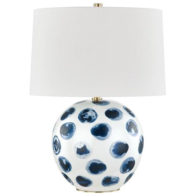 Hudson Valley - L1448-WH/BD - One Light Table Lamp - Blue Point