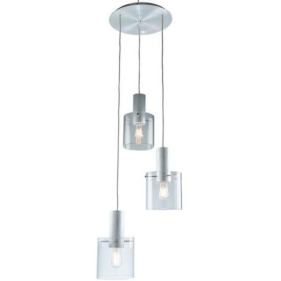Artcraft Lighting - AC11523CL - Three Light Chandelier - Henley - Brushed Aluminum & Clear Glass