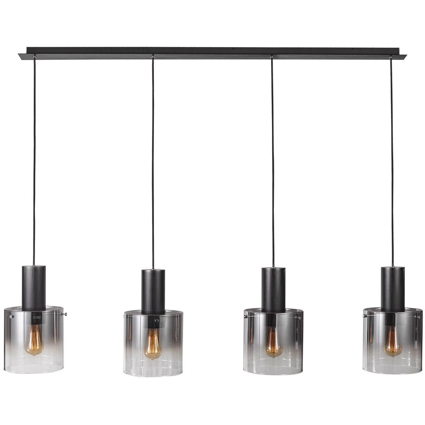 Artcraft Lighting - AC11526SM - Four Light Island Pendant - Henley - Satin Black & Smoke Glass